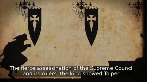 The fierce assassination of the Supreme Council and its rulers, the king showed Tolper,