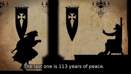The last one is 113 years of peace.