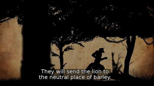They will send the lion to the neutral place of barley.