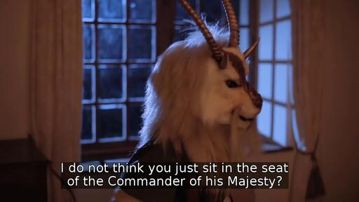 I do not think you just sit in the seat of the Commander of his Majesty?