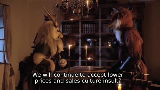 We will continue to accept lower prices and sales culture insult?