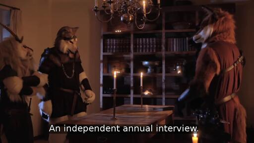 An independent annual interview.