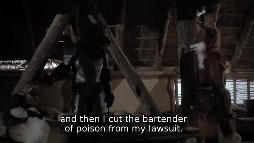 and then I cut the bartender of poison from my lawsuit.